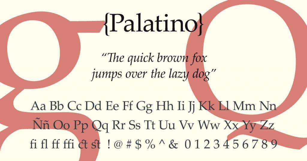 Palatino Linotype · Tipografía