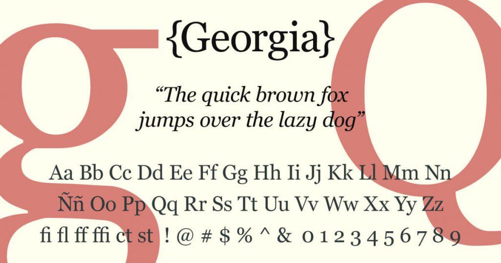 Georgia · Tipografía