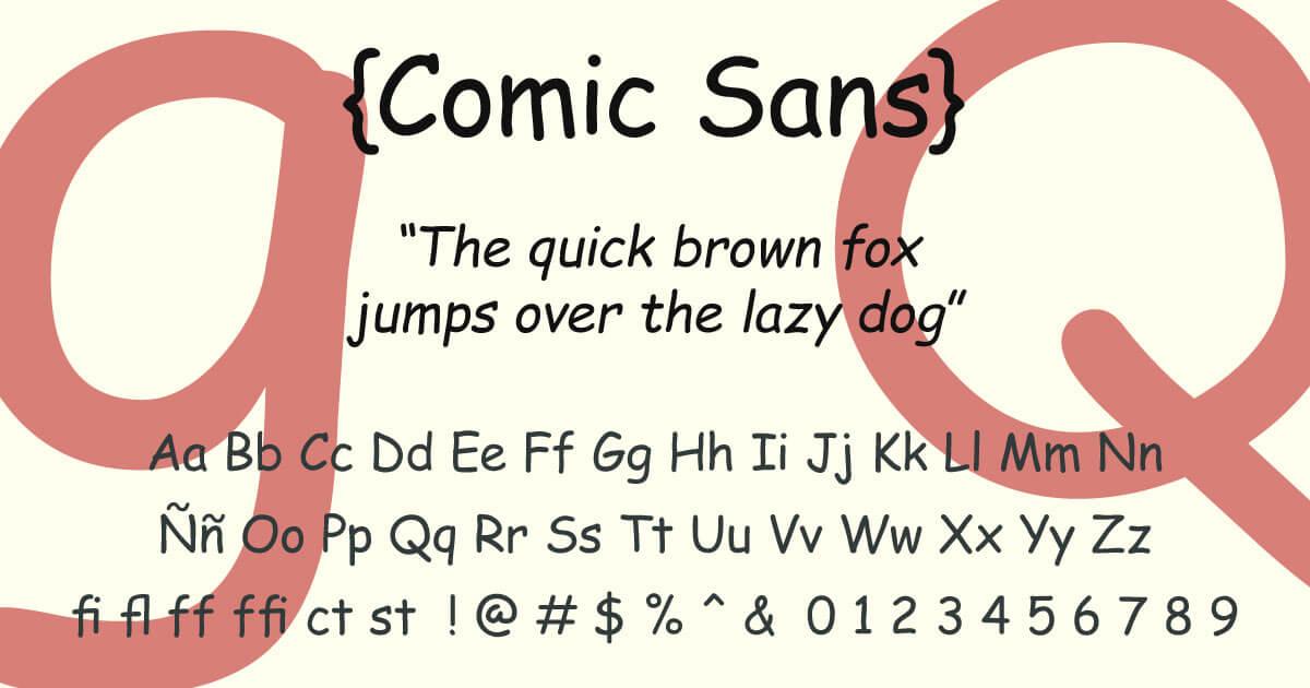 Comic Sans · Tipografía