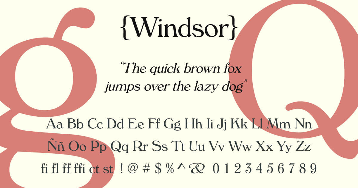 Windsor · Tipografía