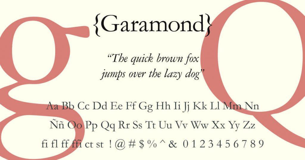 Garamond · Tipografía
