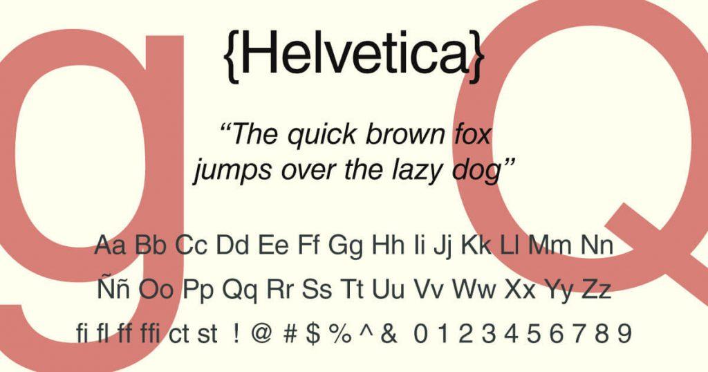 Helvetica · Tipografía