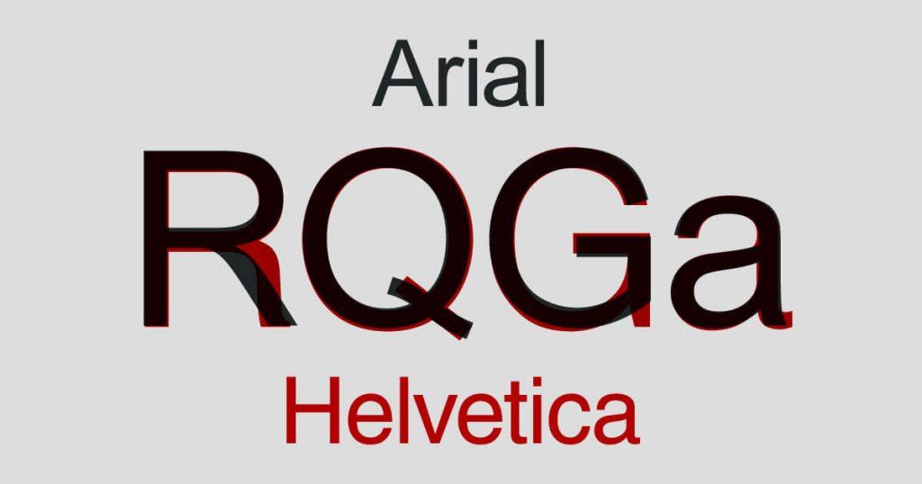 Helvetica vs. Arial