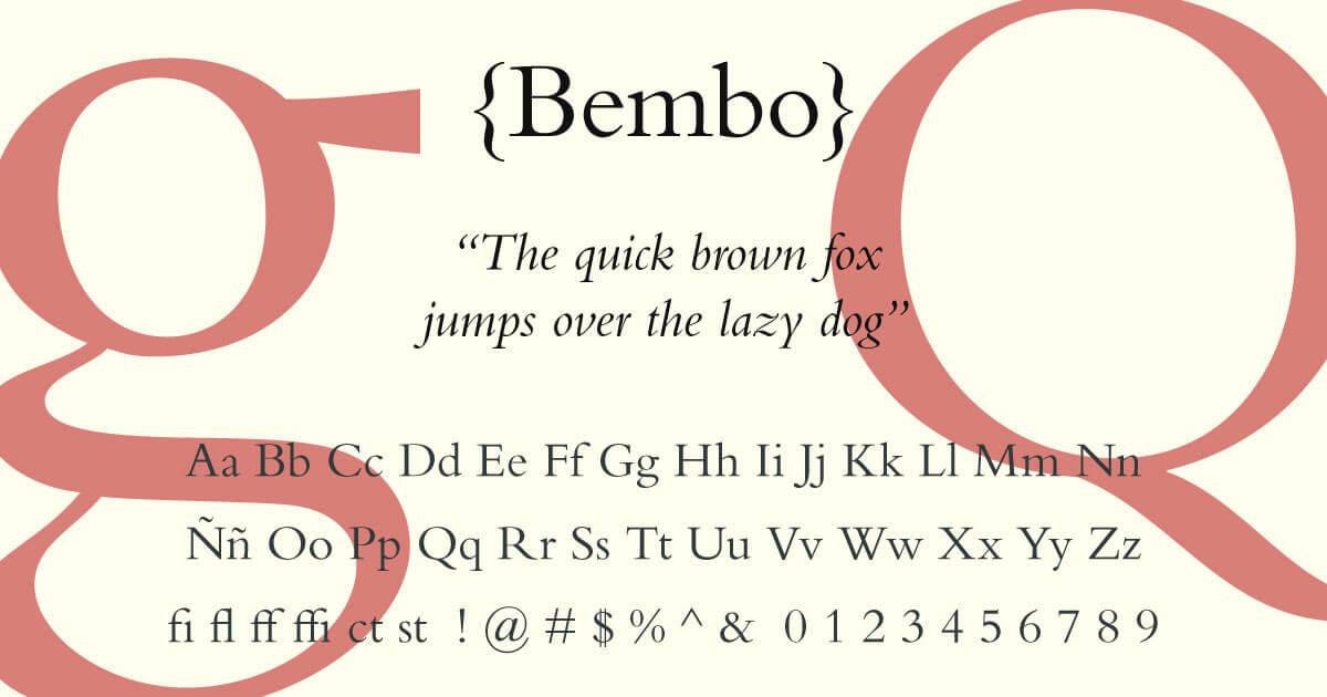 Bembo · Tipografía