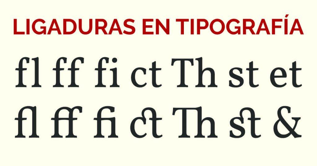 Ligadura en tipografía