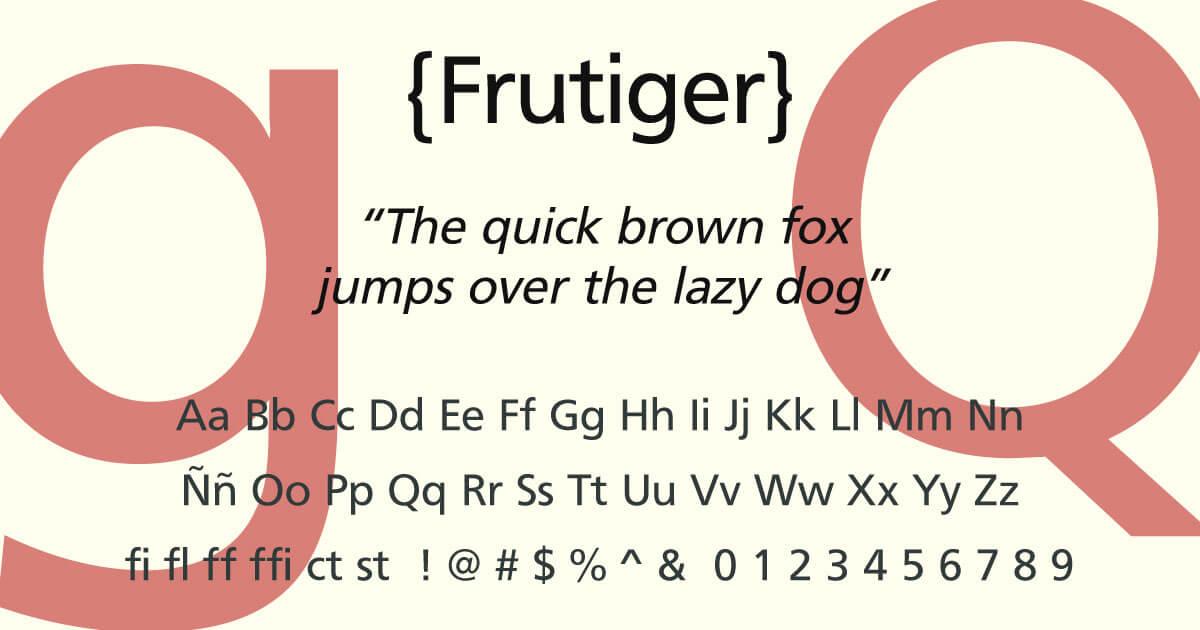 Frutiger · Tipografía