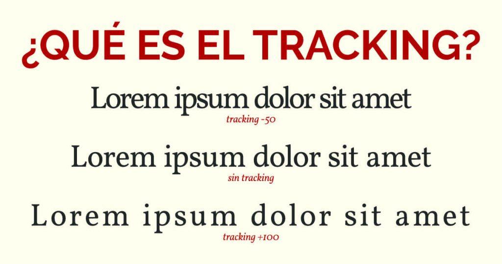 Tracking tipografía